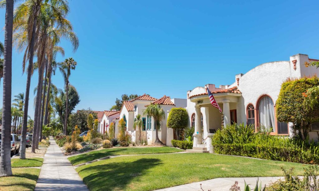 Kensington San Diego's Spanish style homes line the walkable, palm tree lined streets